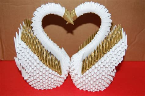 3d origami swans by origami on deviantart