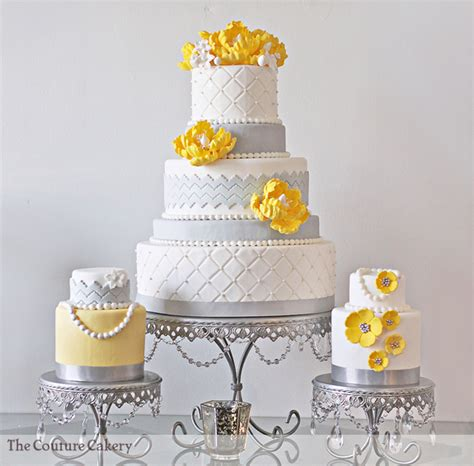 Yellow And Grey Wedding Cakes A Wedding Cake Blog | yellow and grey chevron wedding cake a wedding cake blog