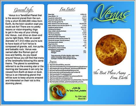 planet brochure template planet travel brochure template theveliger