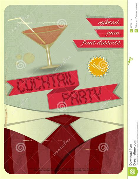 vintage cocktail party illustration cocktail party royalty free stock images image 32078119