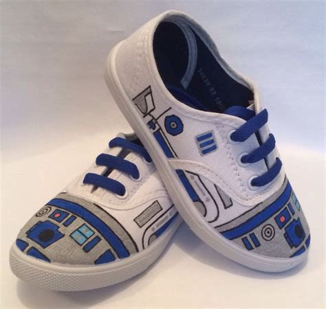 diy custom shoes wars r2d2 shoes by the custom underground starwars
