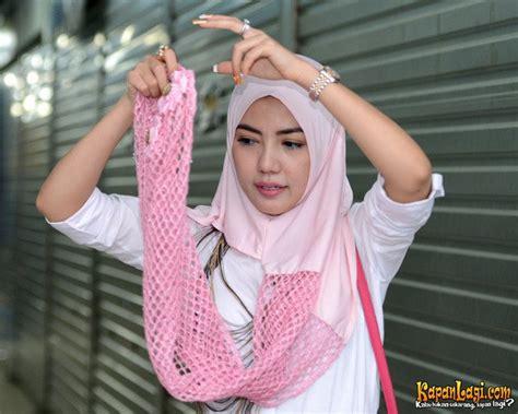 tutorial hijab pesta ala artis yuk ikuti tutorial hijab ala artis cantik bella shofie