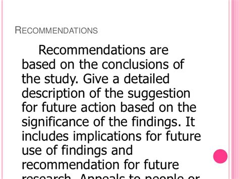 how to write a recommendation paper sle conclusion and recommendation for thesis