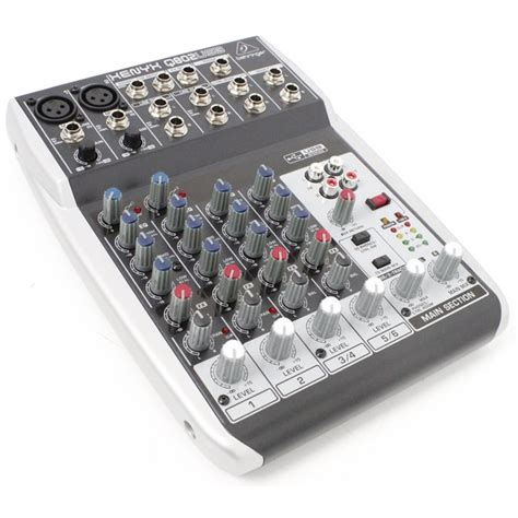 Behringer Xenyx Q802usb Premium 8 Input Mixer Usb Audio Interface behringer xenyx q802 usb premium 8 input 2 mixer with interface ebay