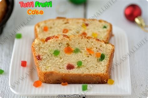 eggless tutti frutti cake recipe vanilla sponge cake