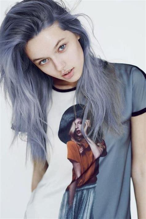 blue ash color ashy blue hair color image 2932460 by violanta on favim com