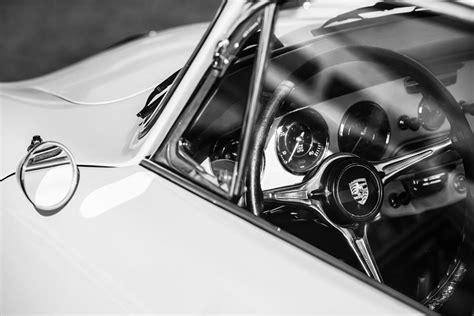 porsche wheel emblem 1964 porsche 356c steering wheel emblem 1421bw photograph