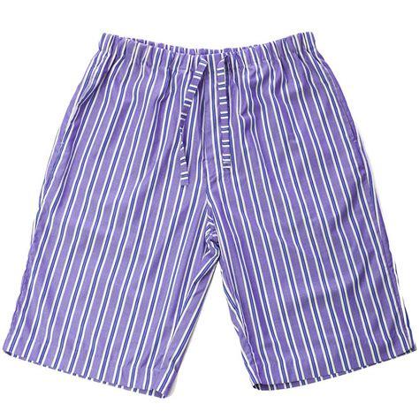 Striped Shorts s blue striped pyjama shorts by pj pan