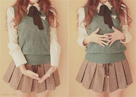 Shjt217122806445 Blouse Korea Knitted Blouse Black Khaki 1000 ideas about school uniforms on