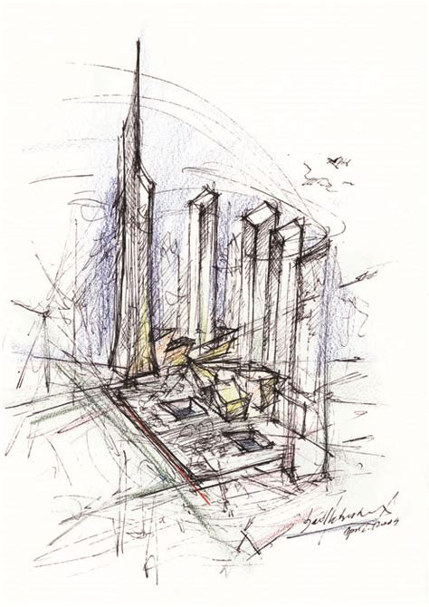 Studio C Sketches Of You by World Trade Center Master Plan Libeskind