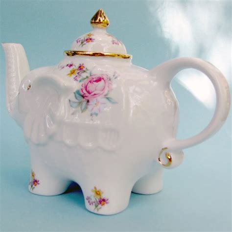 shabby chic teapot shabby chic cottage elephant teapot with pink by julissiaandco