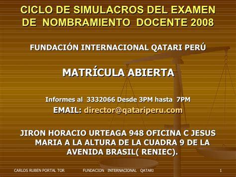 nombramiento de docente 2016 nombramiento docente qatari peru carlos portal