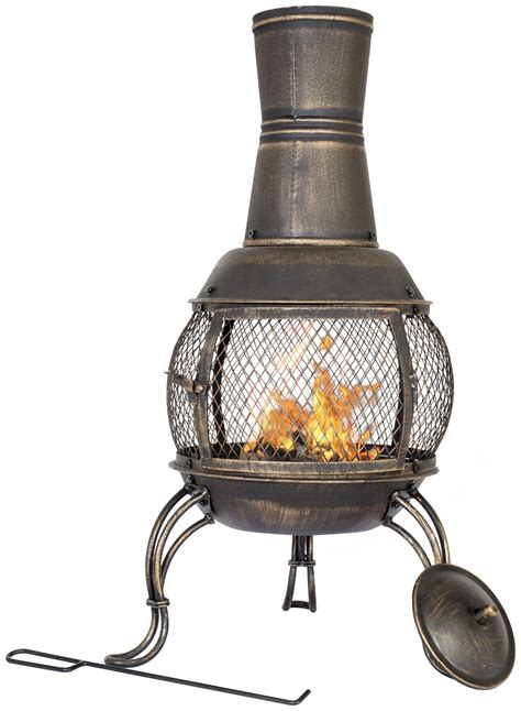 chiminea argos la hacienda medium steel chim bronze finish