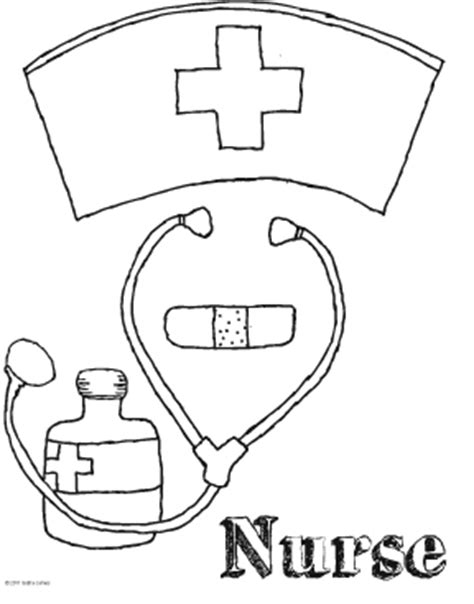 preschool coloring pages nurse nurse coloring pages