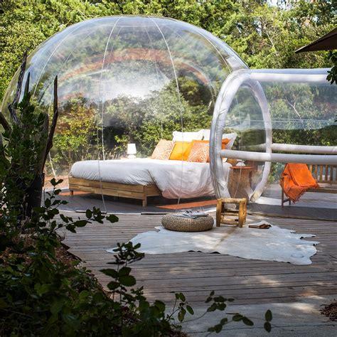 chambre insolite paca dormir dans des bulles bulles des bois dormir dans une
