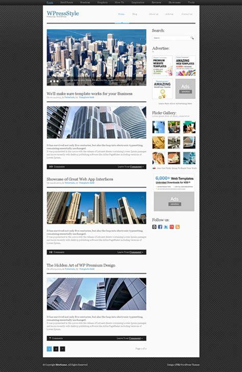 alumini xhtml template web blog corporate css