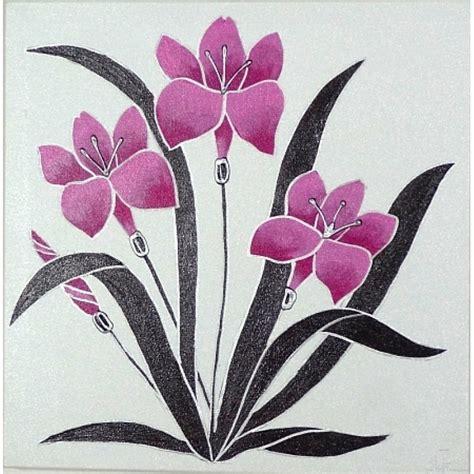 cuadro con flores cuadro flores rosa fucsia 08 025 www olyarte