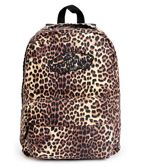 Leopard Print Backpack vans realm leopard print backpack zumiez