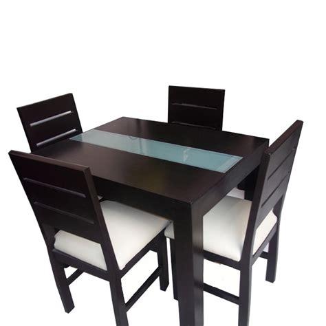 mesa de comedor minimalista  vidrio   sillas