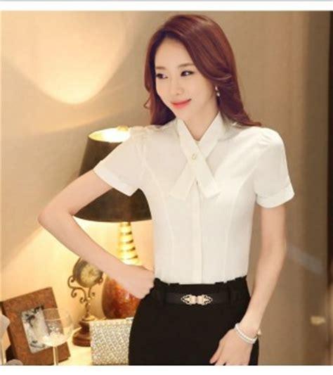 Cc81281 Baju Chiffon Hitam Putih Polos Import blouse wanita putih polos cantik terbaru model terbaru jual murah import kerja