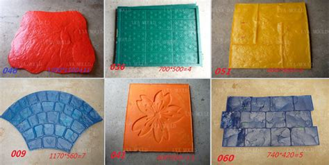 pu material decorative concrete texture stamp mat buy