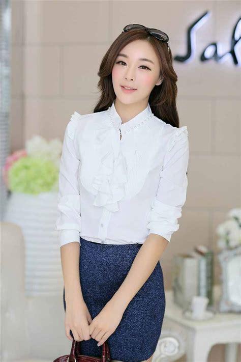 Baju Blouse Panjang Cewek Korea gambar kemeja cewek terbaru apexwallpapers
