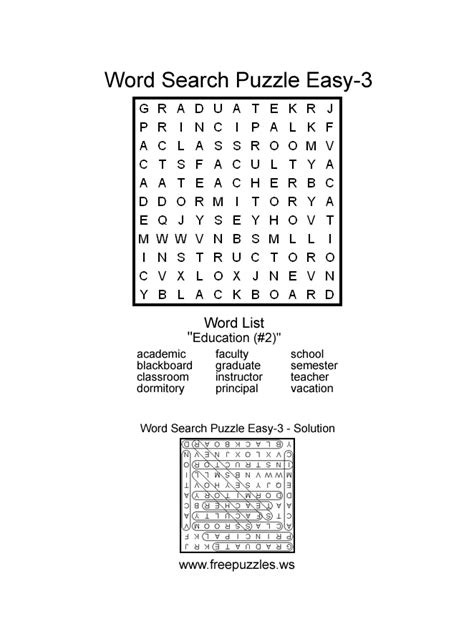 printable easy word search puzzles easy word search puzzles printable