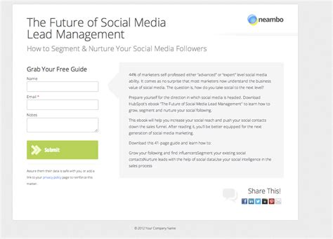Landing Page Templates Formatting Hubspot Landing Page Templates