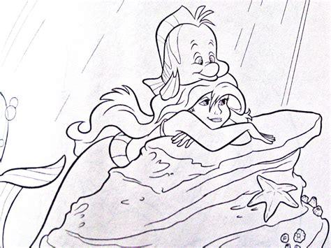 walt disney coloring pages flounder ariel walt disney characters