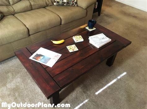diy farmhouse coffee table myoutdoorplans free