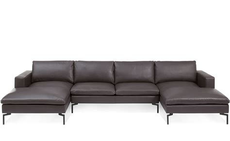 New Standard U Shaped Leather Sectional Sofa Hivemodern Com