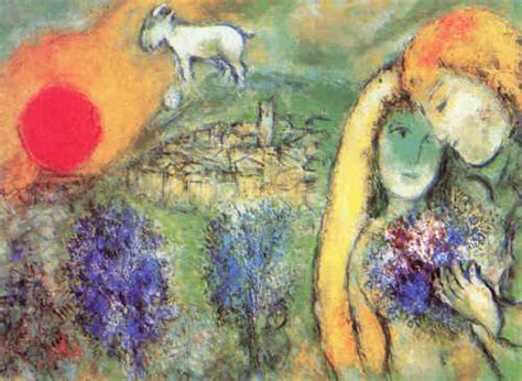 E Painting Meaning by Marc Chagall
