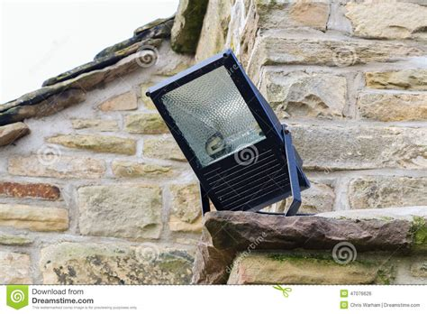 home security light mounted on the corner of a rural