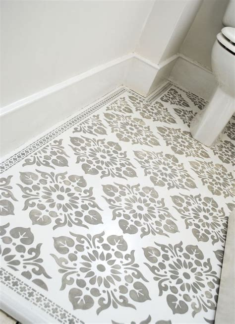 stencils floors and front entry on