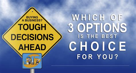 Opts For A New Start by 3 Options To Starting Your New Business Biz Builder