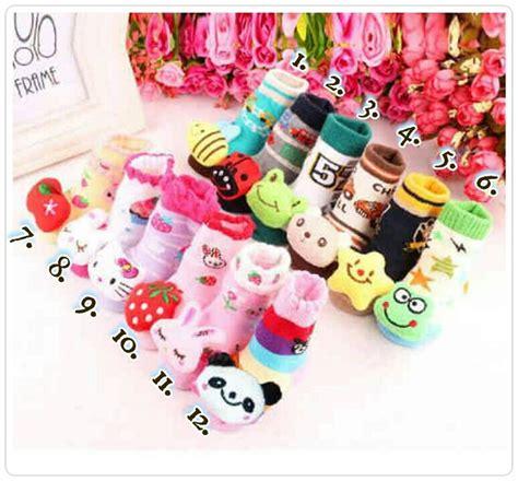 Kaos Kaki 3d 0 24 Bulan jual kaos kaki bayi rattle sock 3d boneka lucu leitifa shop