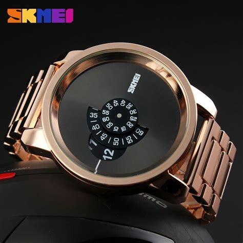 Jam Tangan Pria Cowok Samsung Led Rantai Gold Diskon skmei jam tangan analog pria ad1171 gold jakartanotebook