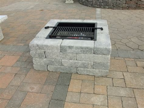 Square Firepits Pavestone Square Pit Harken S Landscape Supply Garden Center East Ct