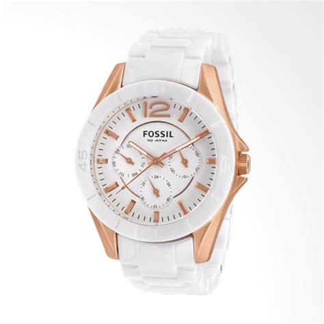 Jam Tangan Wanita Quartz Putih jual rabu cantik fossil ce1006 chronograph jam tangan wanita putih harga