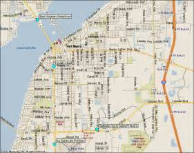 fort myers downtown florida hotels map from southwest