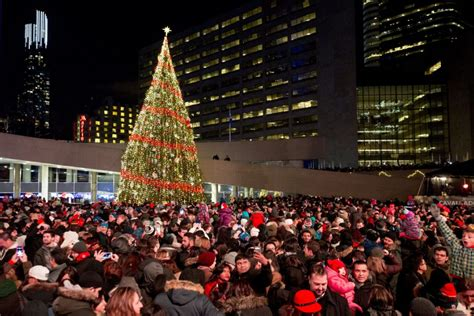 nathan phillips square tree season begins with toronto s cavalcade of lights