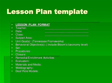 lesson plan powerpoint template lesson plan for maths class 6 in 1000 ideas about
