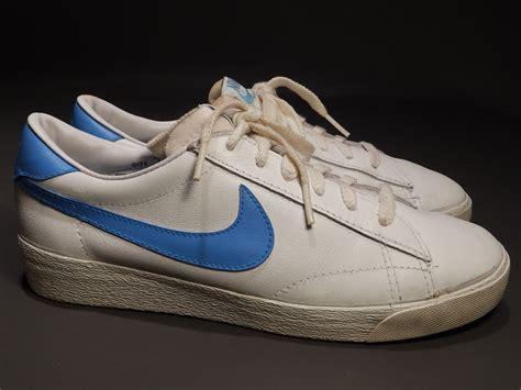 vintage 80s nike wimbledon sz 7 white leather tennis shoes