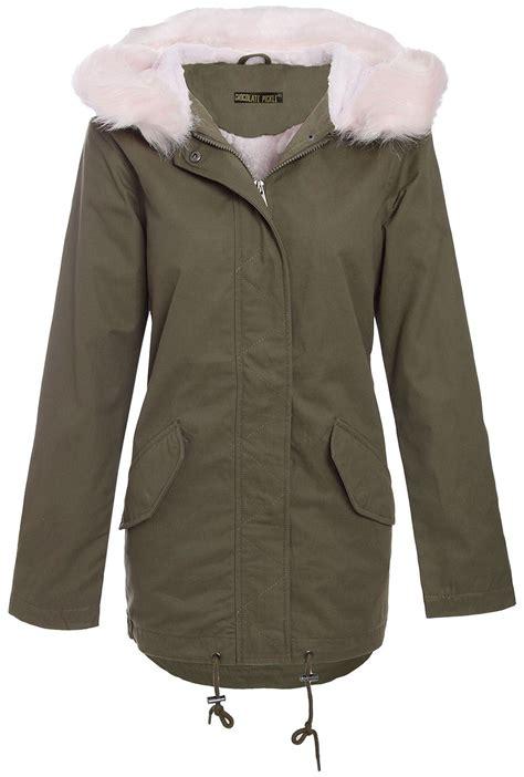 Longslevee Parka new sleeve fur sherpa hooded coats fleece neck