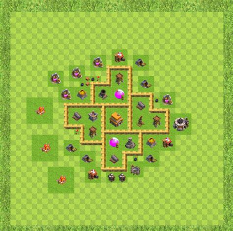 layout coc town hall level 5 clash of clans molon labe approved town hall level 5 bases
