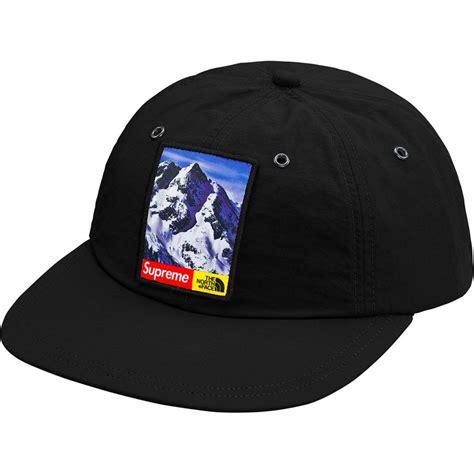 supreme hats black supreme the mountain 6 panel hat black
