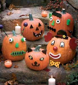 Decorated Halloween Pumpkins Without Carving Pumpkin Decorating Ideas Kids No Carving Www Pixshark