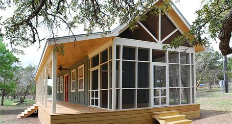 kit homes texas gallery texas hill country cottage by kanga room systems