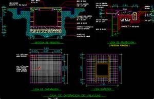 Grease Lighting Sewer Valve Chamber Box In Autocad Drawing Bibliocad