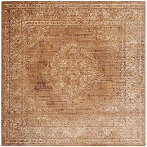 Safavieh Vintage Taupe 6 Ft X 6 Ft Square Area Rug Rugs 6 Ft
